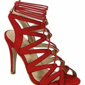 REFRESH - BETTY-11 Lace-Up Cage Heels